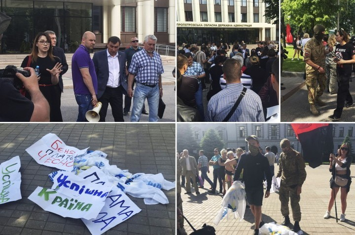 Radicals attacked entrepreneurs, who came to the tax forum in Dnipro